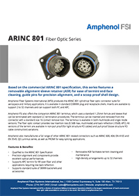 Amphenol ARINC 801 Fiber Optic Series
